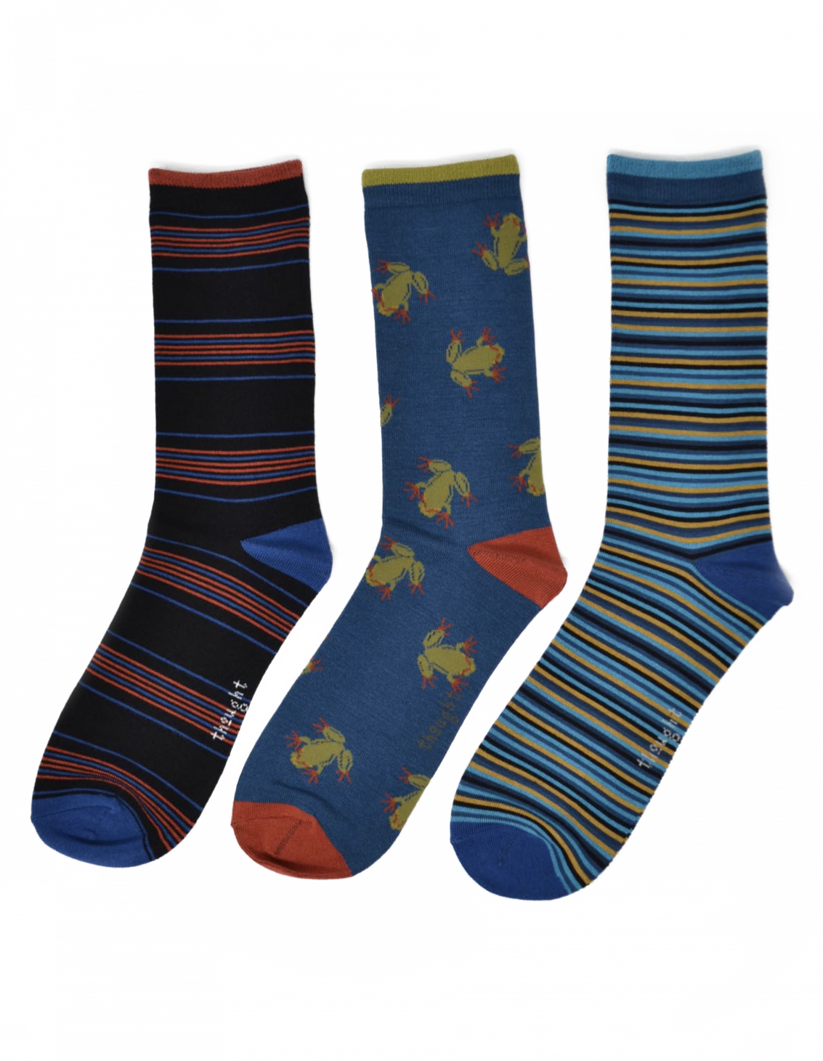 Stripped Bamboo Socks 3-Pack